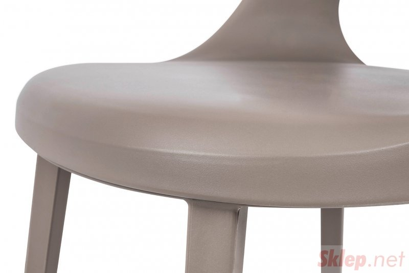 Krzesło BUKO szare - polipropylen