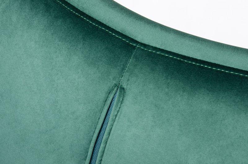 Fotel EGG SZEROKI VELVET BLACK ciemny zielony.18 - welur, podstawa czarna