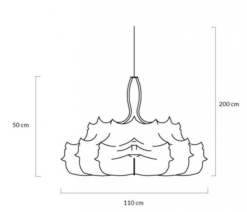 Lampa wisząca RAGNATELA 110 biała - kompozyt