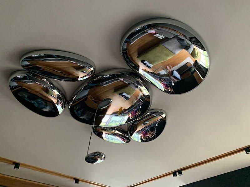 Plafon STONE MIRROR - LED, stal polerowana