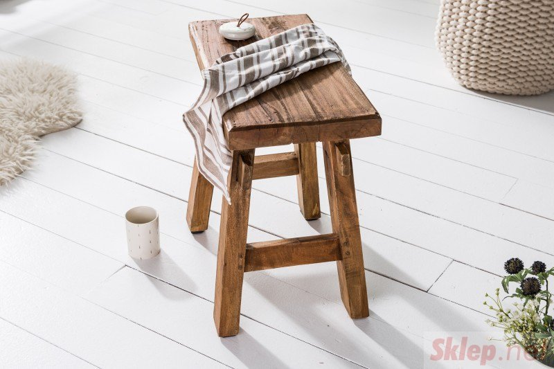 INVICTA stołek HEMINGWAY 50 cm - drewno z recyklingu