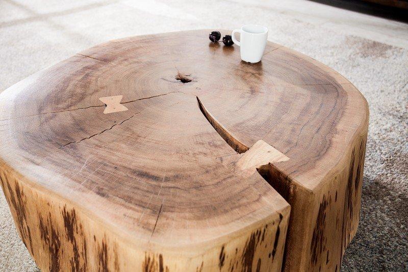 INVICTA stolik kawowy GOA 60 cm akacja - lite drewno akacjowe