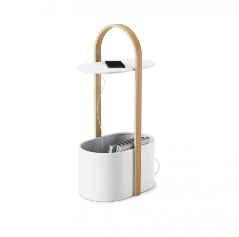 UMBRA stolik kawowy HUB / BELLWOOD biały - metal drewno