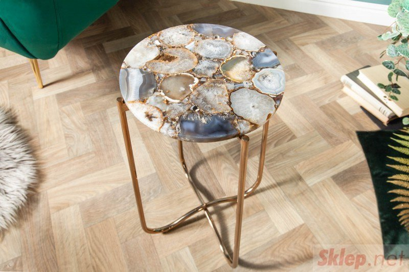 INVICTA stolik NOBLE AGAT I 35 cm  - kamień agat