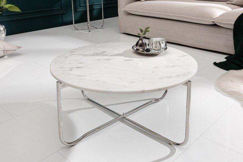 INVICTA stolik kawowy NOBLE 62 cm  biały marmur