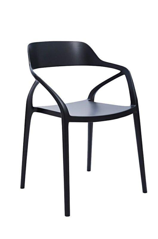 Krzesło GLORIA czarne - polipropylen