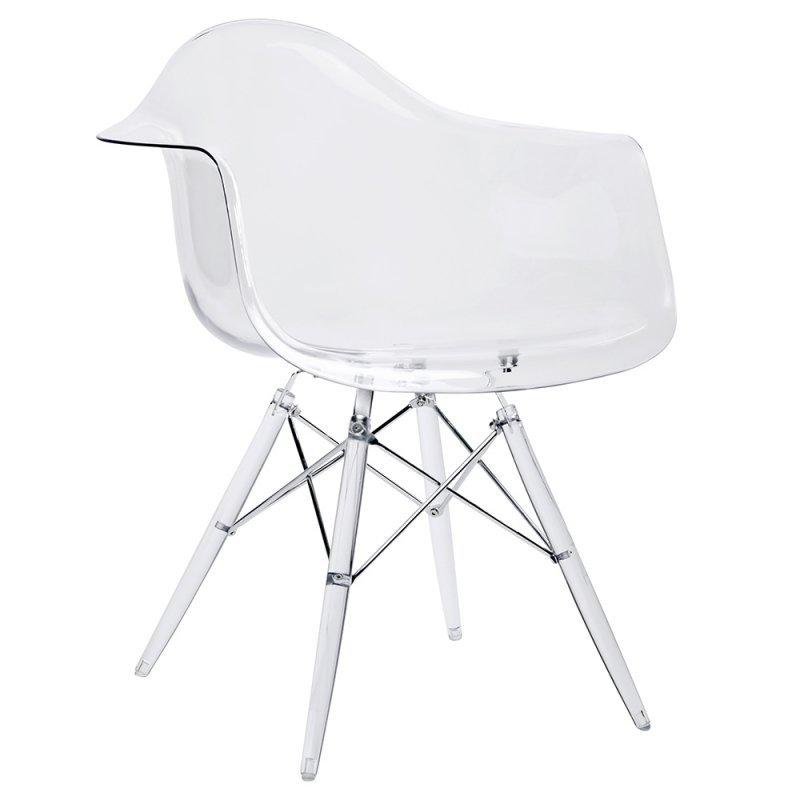 Fotel DSP ICE transparentny - poliweglan