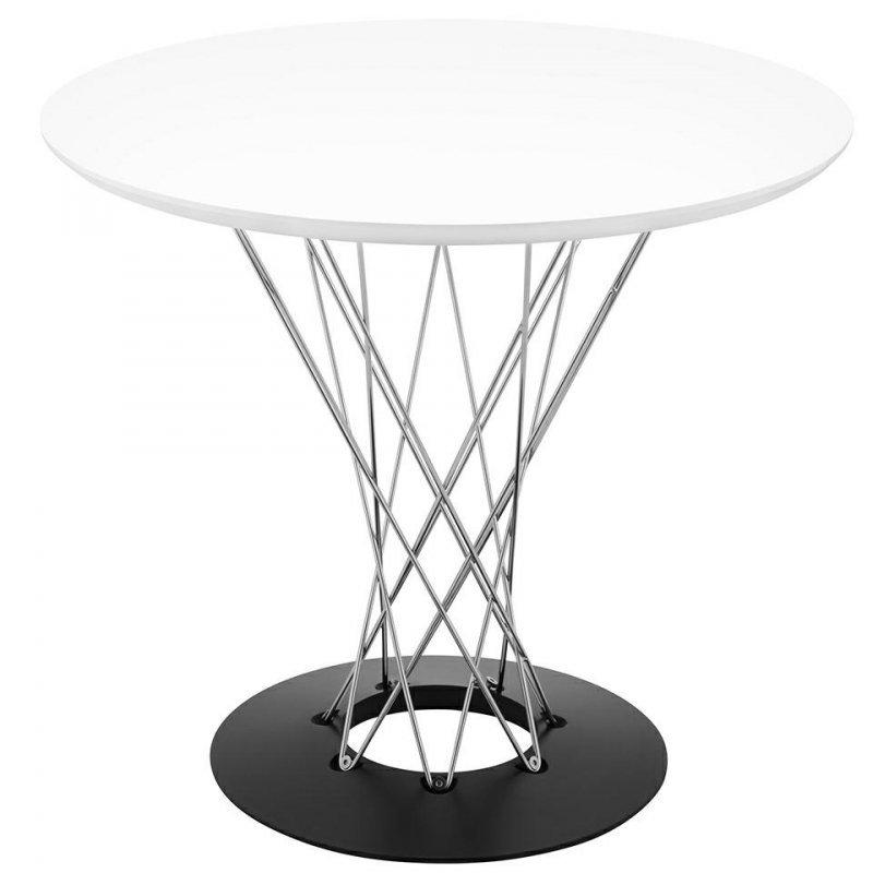 Stół TWIST 80 biały - MDF, chrom