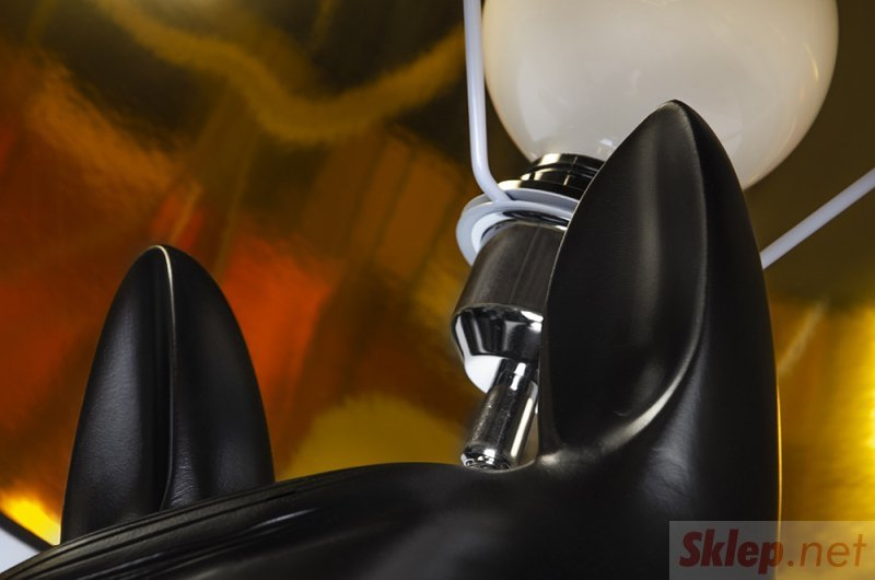 Lampa podłogowa KOŃ HORSE 2 UP czarna - żywica, abs