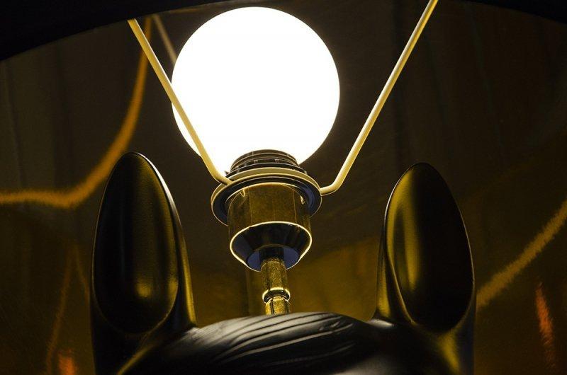 Lampa podłogowa KOŃ HORSE 1 UP czarna - włókno szklane