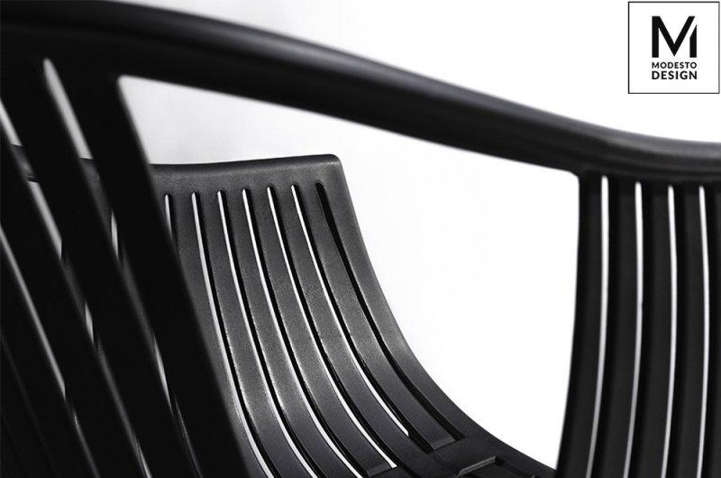 MODESTO krzesło SOHO czarne - polipropylen