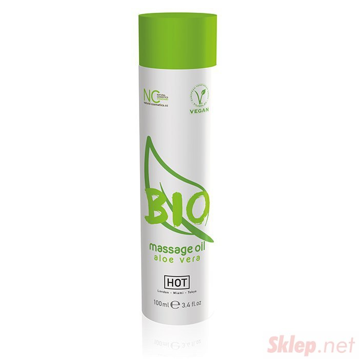 Olejek-HOT BIO Massage oil aloe vera 100ml.