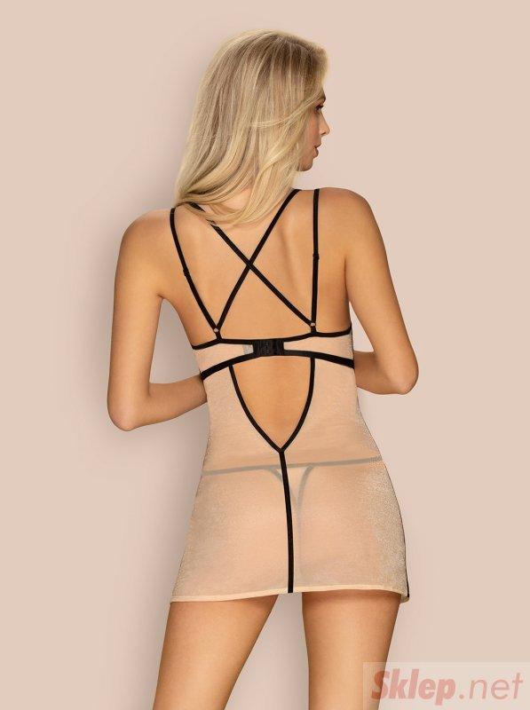 Bielizna-Nudelia koszulka i stringi  S/M