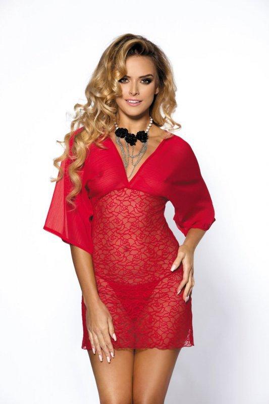 Bielizna-Lorna red chemise L (czerwona halka)