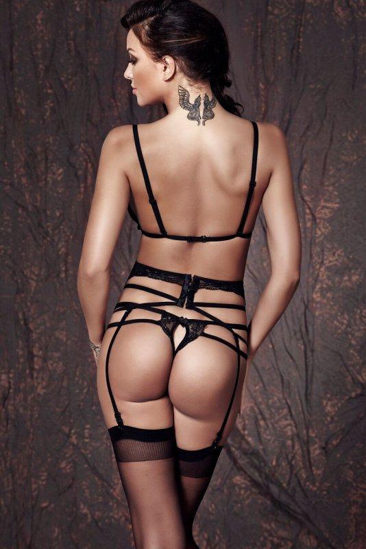 Bielizna-Sapphira 3pcs L (biustonosz,string,pas/bra,string,garter belt)
