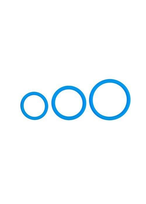 Pierścień-Cock Ring Set Blue