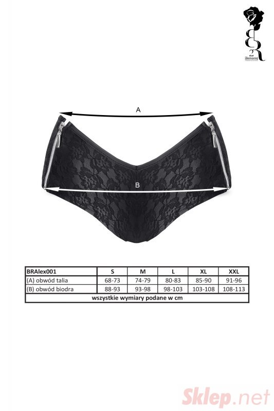 Bielizna - BRALEX001 szorty czarne rozmiar M