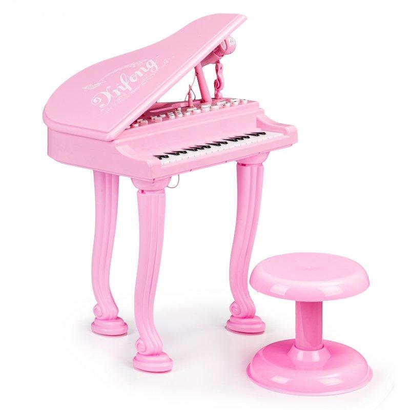 Fortepian organki keyboard pianino z mikrofonem mp3