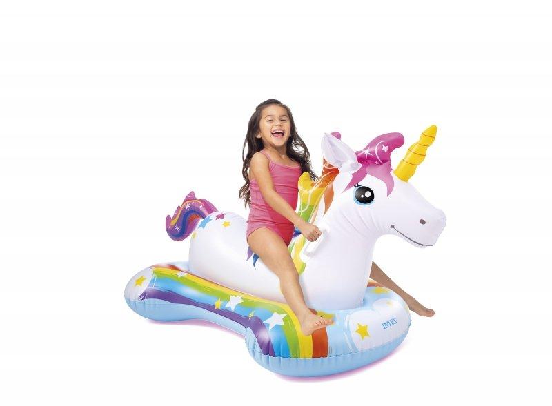 Dmuchany jednorożec unicorn 163x86 INTEX 57552