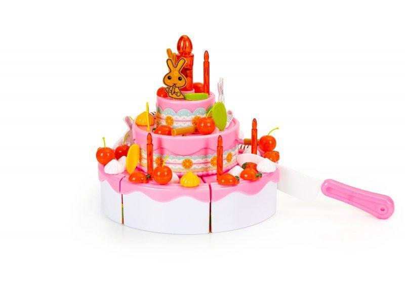 Tort do krojenia zestaw urodziny przyjęcie 125 el