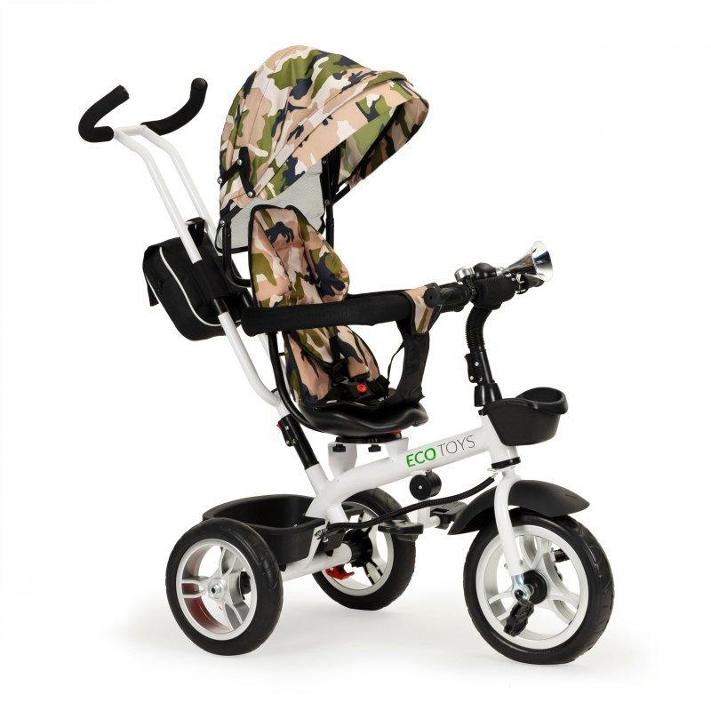 Rowerek trójkołowy spacerówka wózek obracany fotel 360°