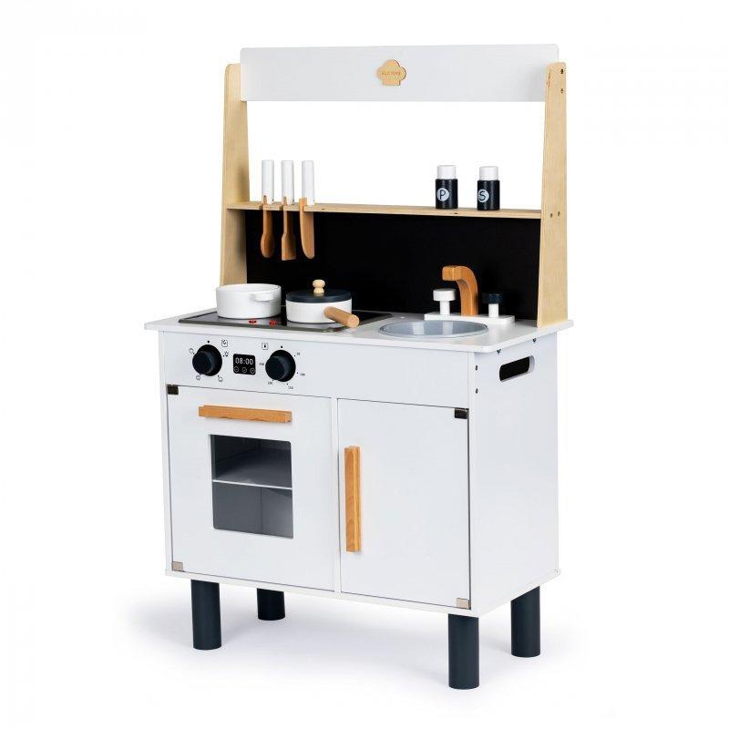 Drewniana kuchnia dla dzieci dźwięki efekty led