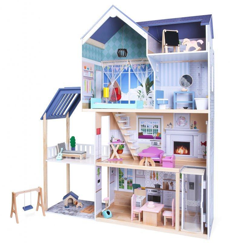 Domek dla lalek xxl Rezydencja Maya 28 el. Ecotoys