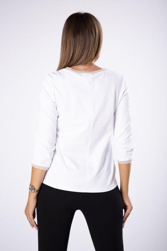 cienka bluza z ozdobną kieszonką
