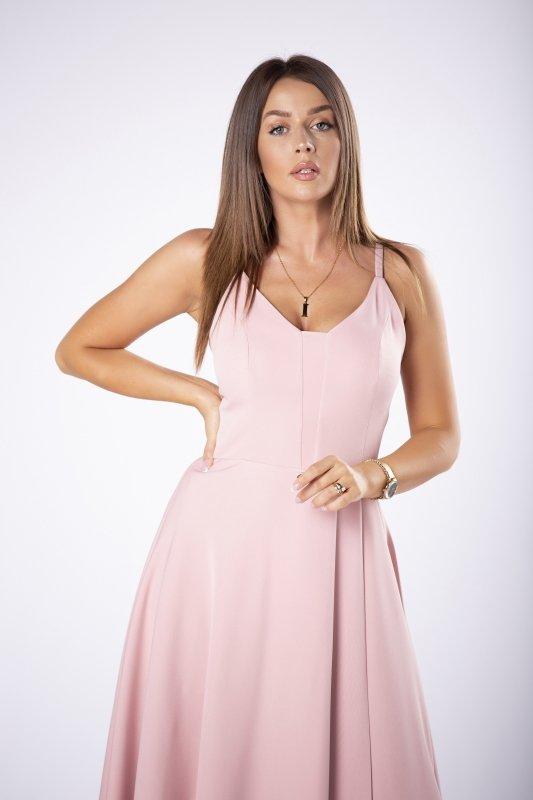 sukienka maxi na cienkich ramiączkach