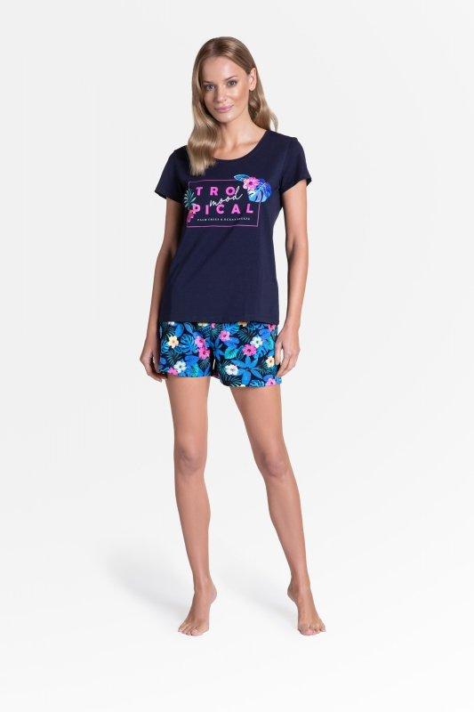 Piżama Tropicana 38905-59X Granatowa