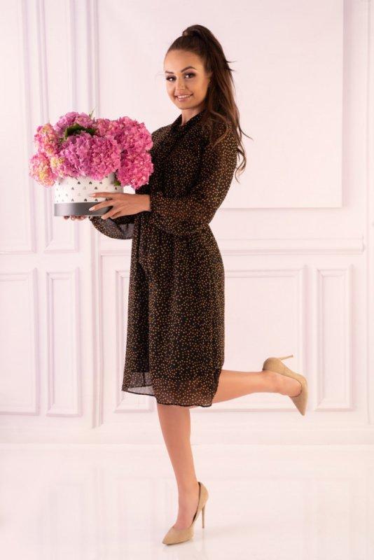 Sukienka Alinga Brown
