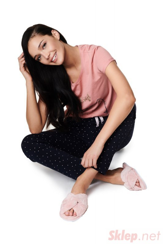 Pantofle Zahira 39308-03X Lekki Róż