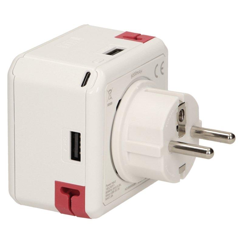 9402/EUBANK Rozgałęźnik Power USB z funkcją Power Bank