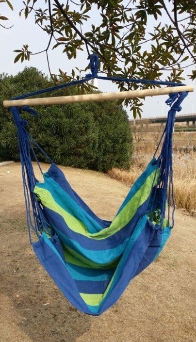 AG233B Krzesło wiszące 120kg blue/green