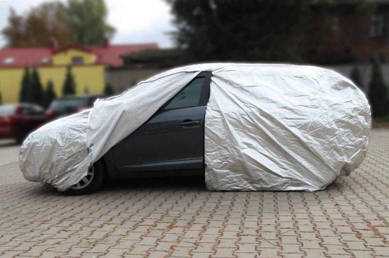 01111 Plandeka na samochód - rozmiar L  srebrna