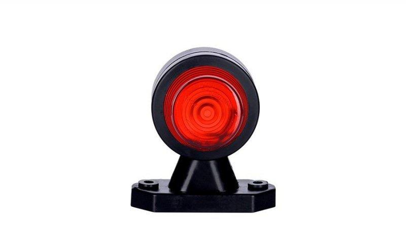 Lampa obrysowa biała+czerwona na wysięgniku krótkim
