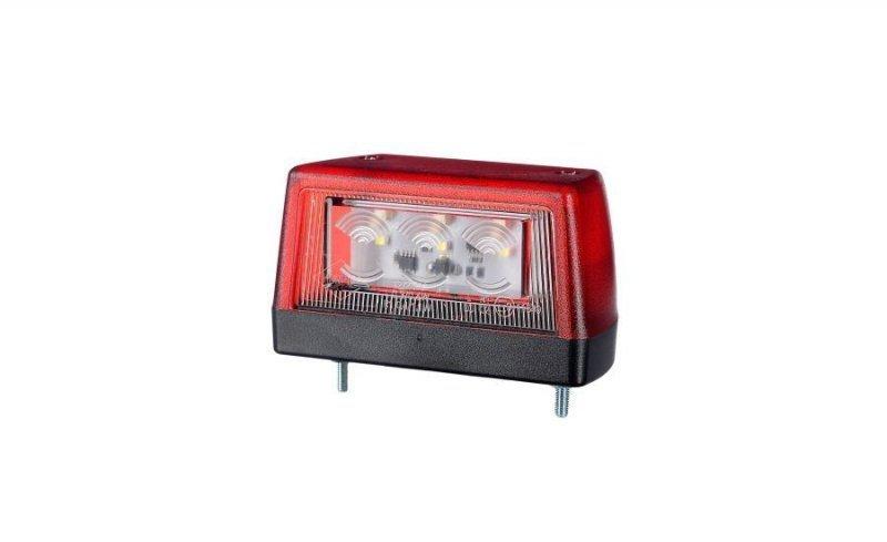 Lampa oświetlenia tablicy rejestracyjnej hor 79 ze światłem pozycyjnym tylnym, diodowa 12/24v (przewód 0,5 m)