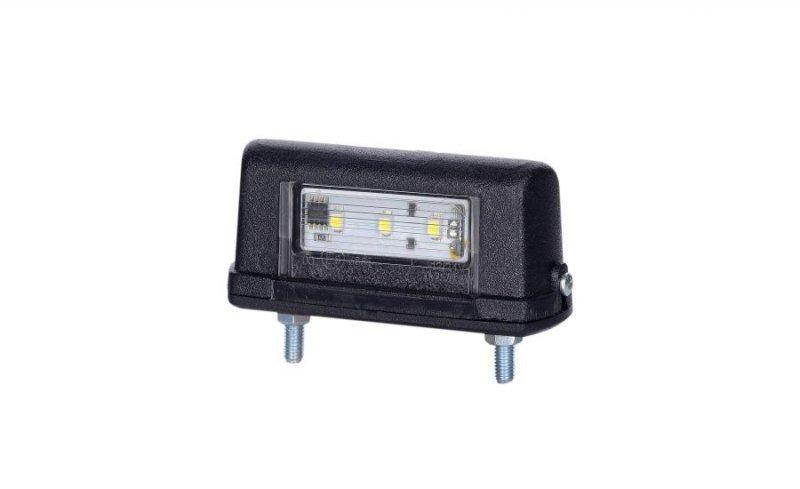 Lampa oświetlenia tablicy rejestracyjnej uniwersalna mała hor 63, diodowa 12/24v - ltd 665 (przewód płaski 2x0,75 mm) (2szt)