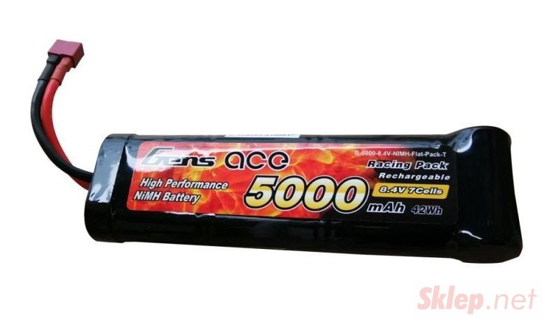 5000mAh 8.4V Flat Pack Gens Ace