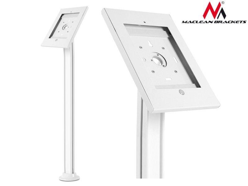 Stojak uchwyt reklamowy do tabletu podłogowy z  blokadą Maclean MC-678  iPad 2/3/4/Air/Air2