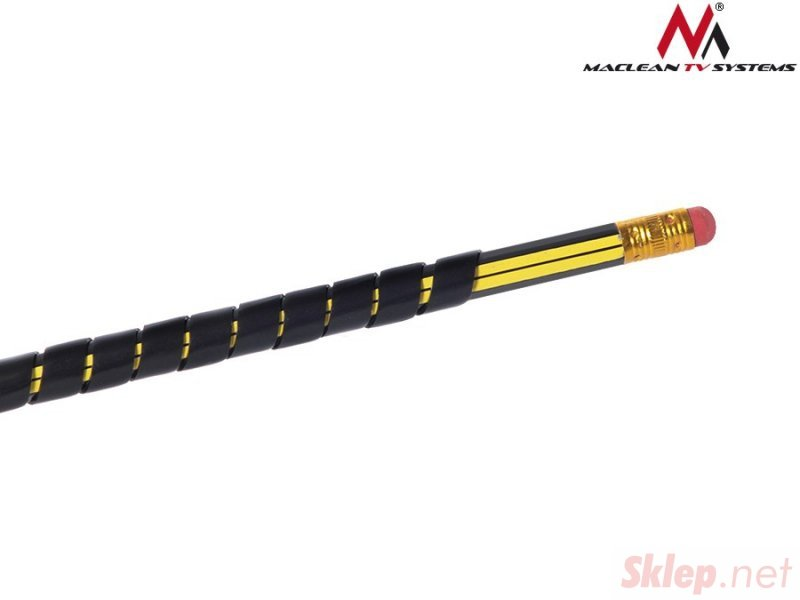 MCTV-684 B 43132 Osłona maskująca na kable (5*6mm) 3m czarna spirala