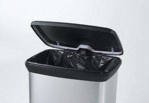 Kosz na śmieci metalizowany z pedałem Curver 50L