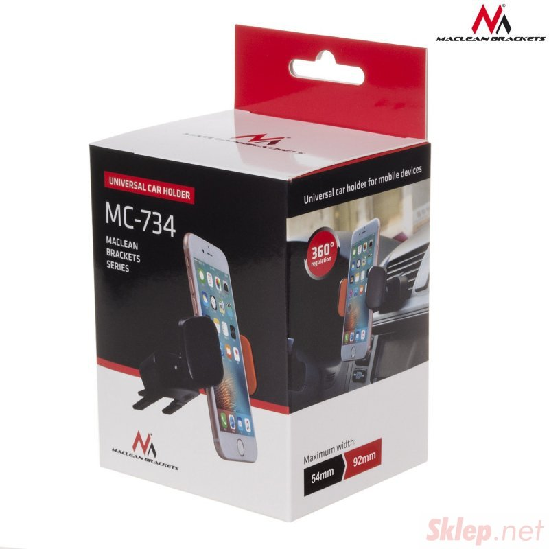 MC-734 46062 Samochodowy uchwyt do telefonu na kratkę lub CD slot