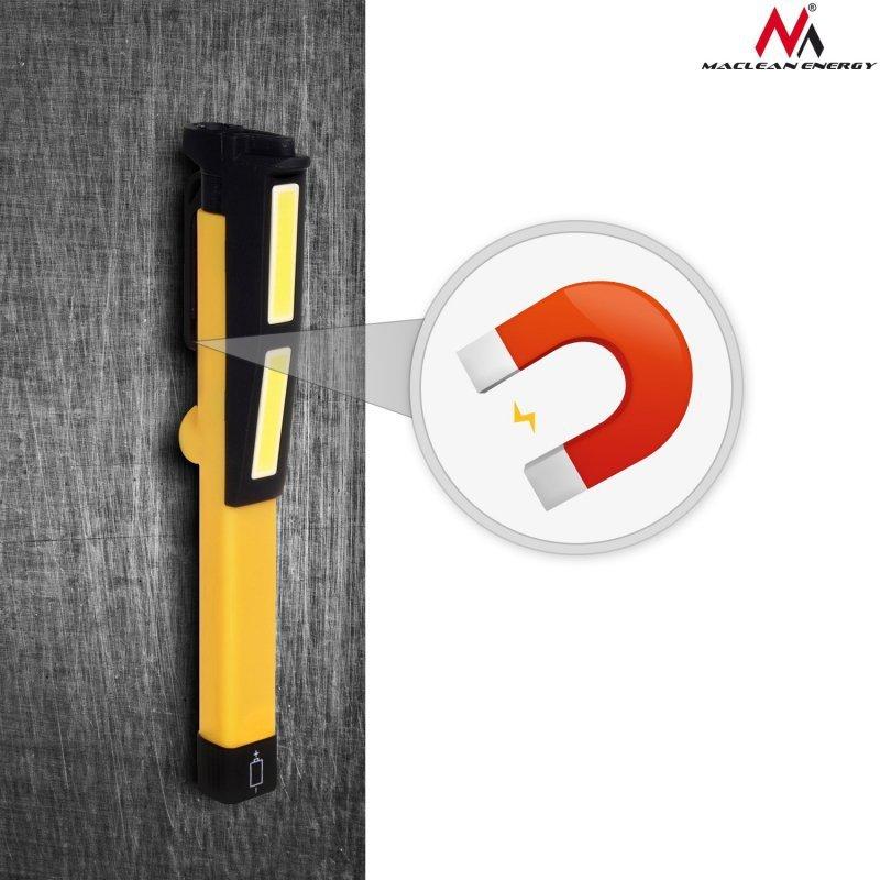 Lampka długopis LED 3W COB Maclean Energy magnetyczna MCE173