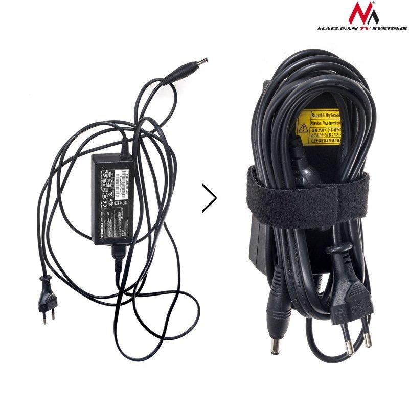 Organizator kabli taśma rzep dwustronna 20mm*15,3m Maclean MCTV-542 czarna