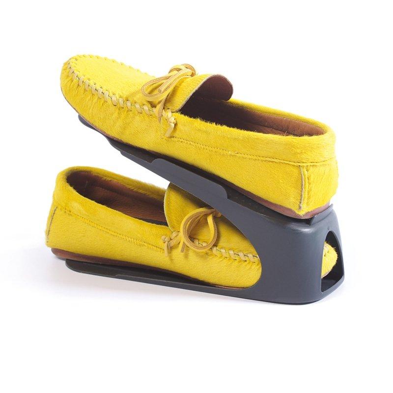 Zestaw 4 organizerów na buty Spacyshoe szary