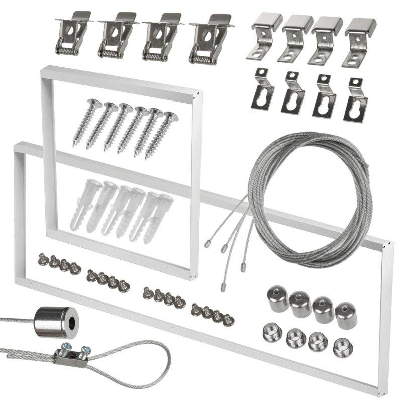Zestaw linek do montażu paneli LED sufitowych Maclean Energy MCE541 -zestaw pasuje do paneli 595x595mm oraz 1195x295mm, długość