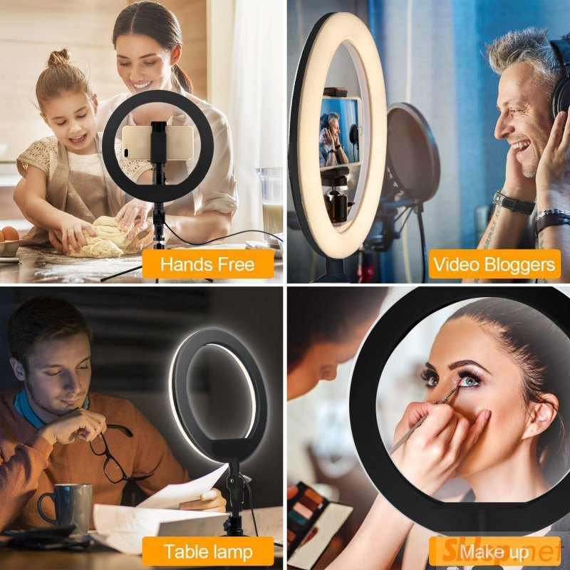 """Lampa LED Maclean, 12"""", 20W, Samowyzwalacz, Bluetooth, Możliwość zmiany barwy 3000K-6500K oraz jasności 10-100%, MCE612B"""