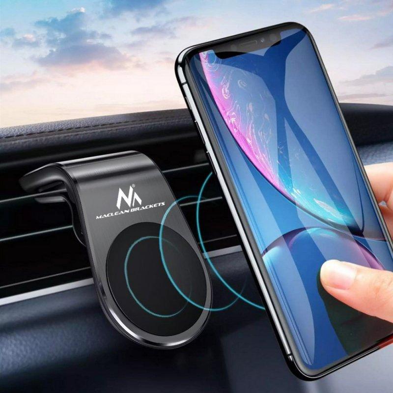 """Samochodowy uchwyt do telefonu Maclean, magnetyczny, uniwersalny, do kratki went., materiał wykonania ABS, MC-326  """""""
