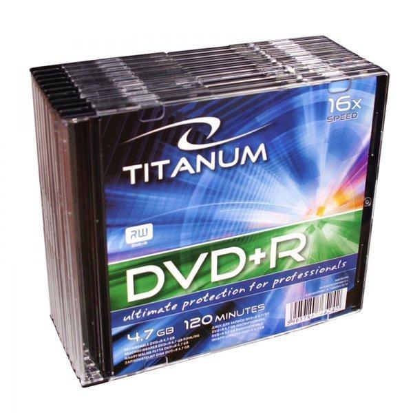1291 DVD+R 4,7 GB X16 - Slim 10 sztuk Titanum